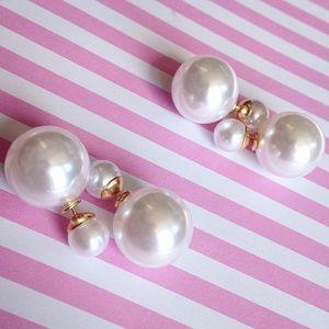 Double sided pear earrings